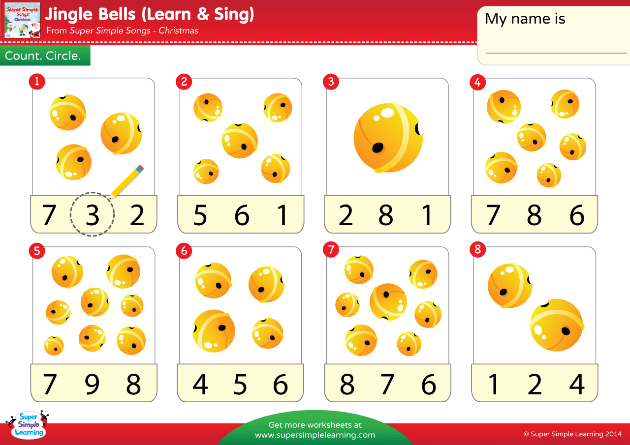 Jingle Bells Worksheet Count The Bells