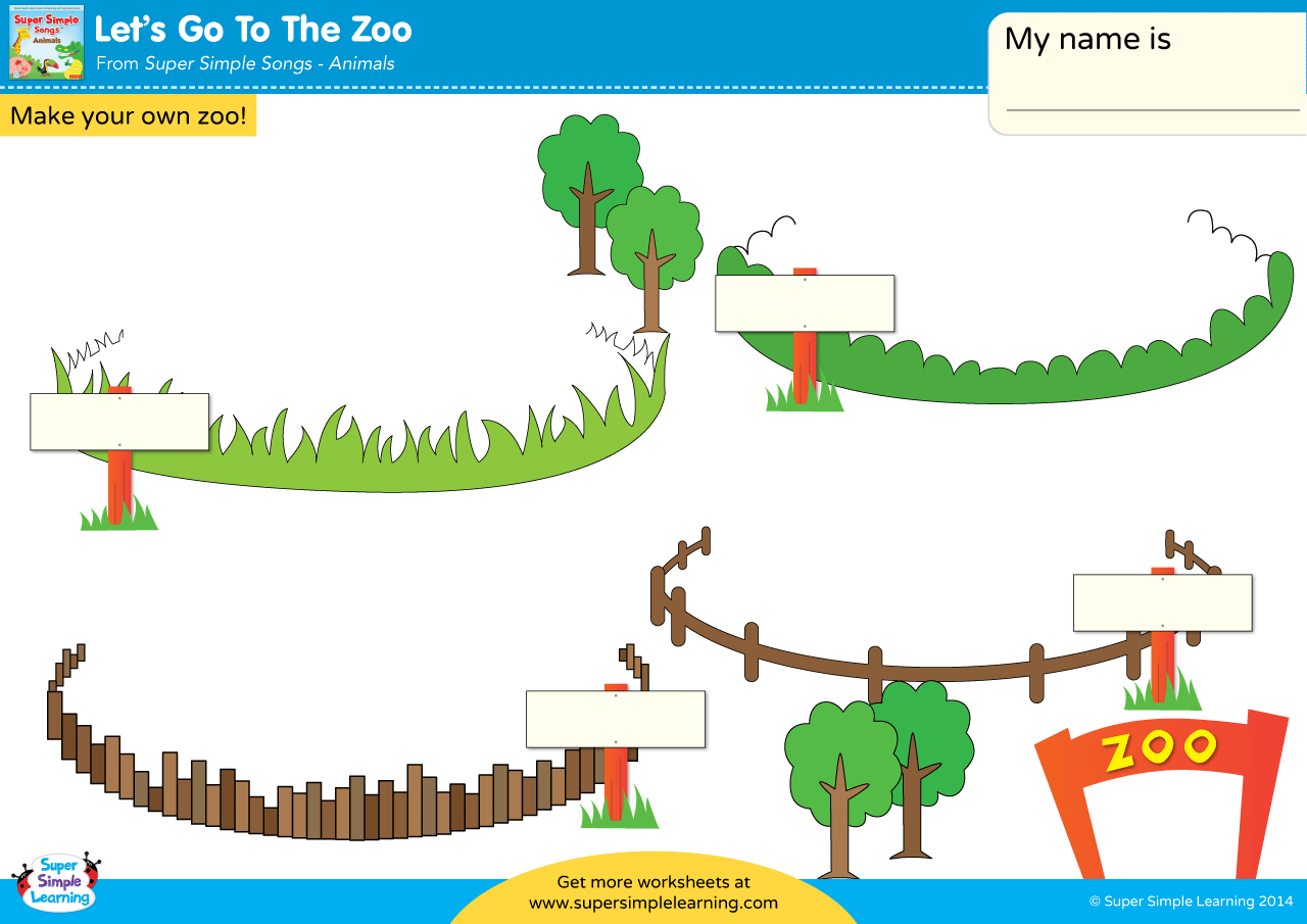 Let S Go To The Zoo Worksheet Make Your Own Zoo