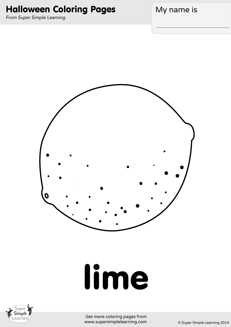 Lime Coloring Page Super Simple