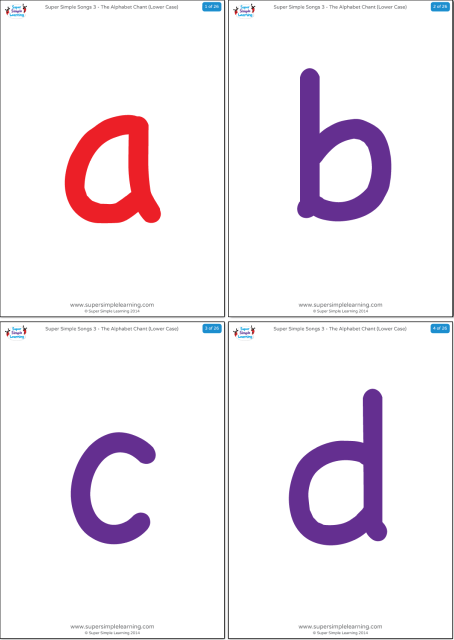 Printable Alphabet Flash Cards Upper And Lower Case With