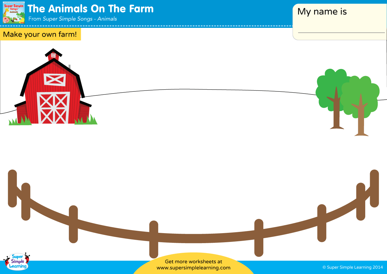 The Animals On The Farm Worksheet Make Your Own Farm