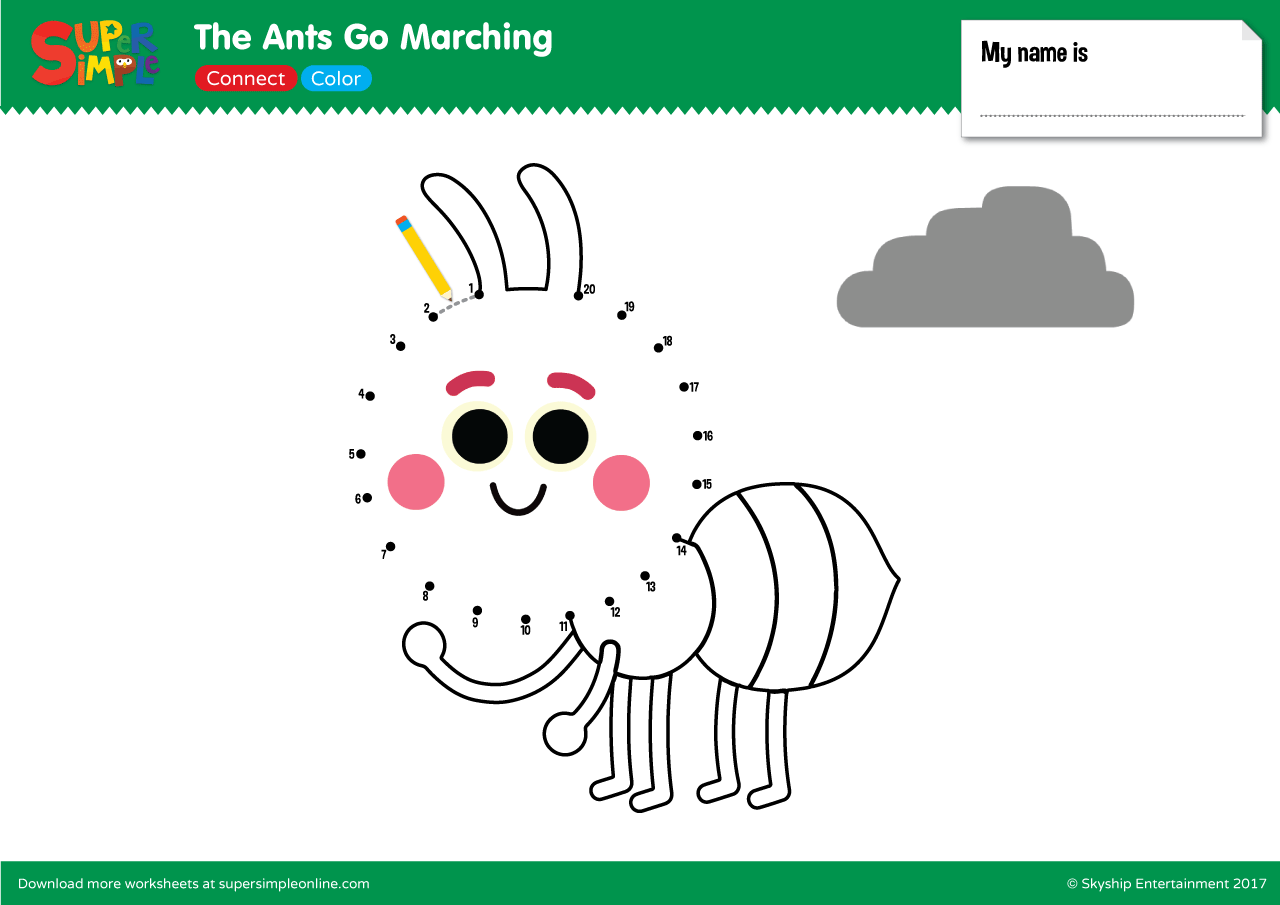The Ants Go Marching Connect Amp Color