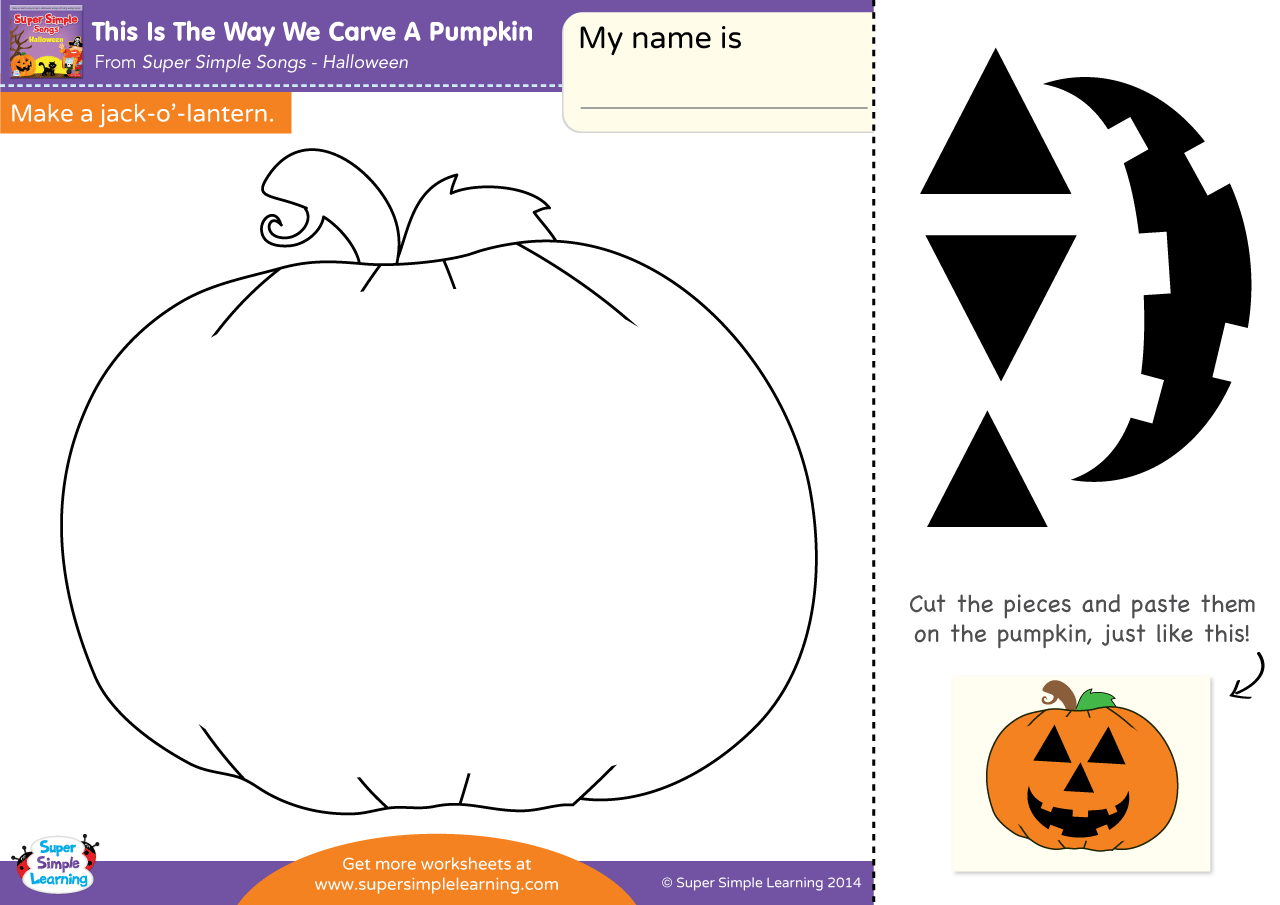 This Is The Way We Carve A Pumpkin Worksheet Make A Jack