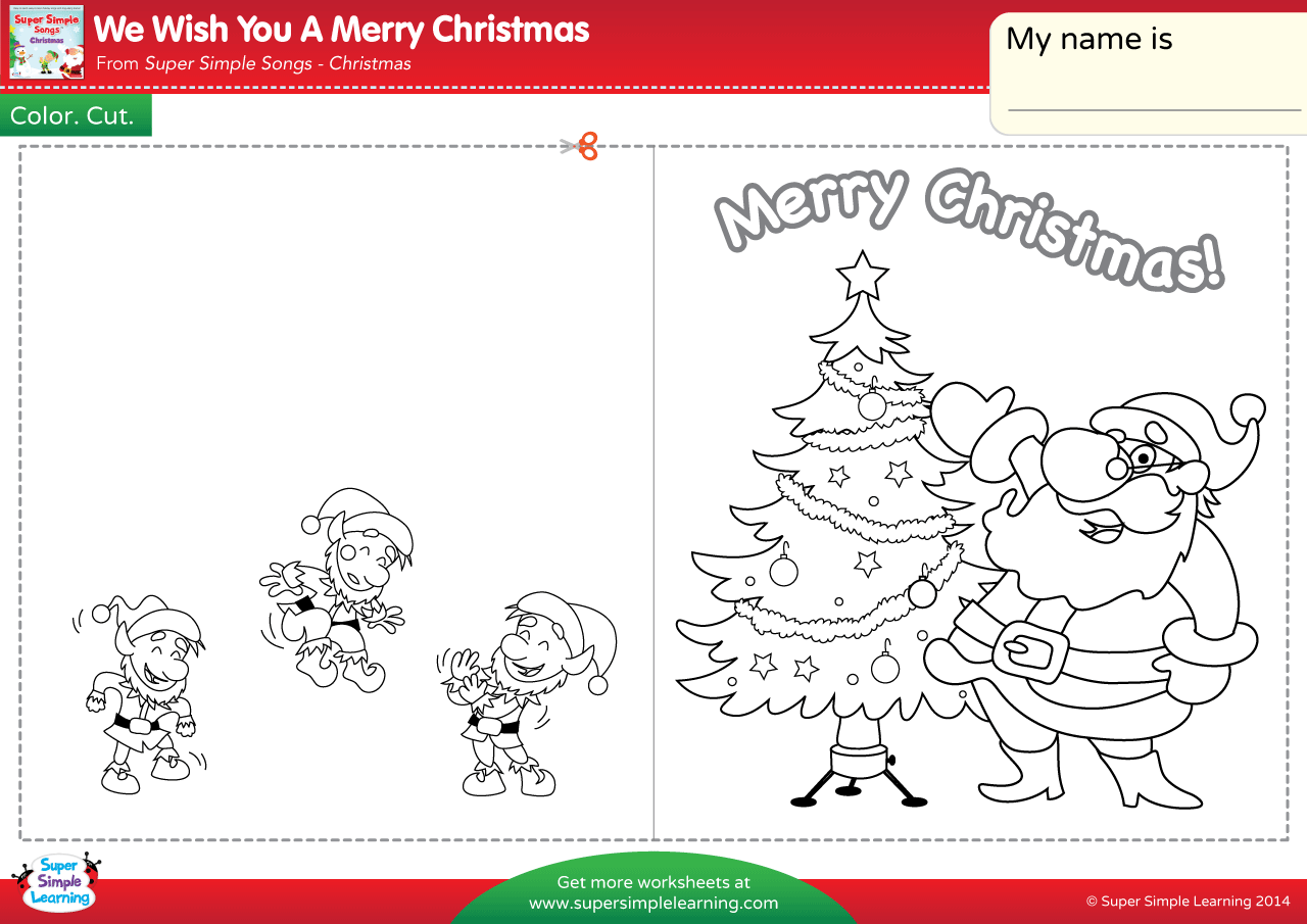 We Wish You A Merry Christmas Worksheet Make A Chirstmas Card