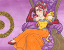 Princess Sola~ This is the first of my planet pictures... Clearly I'm re-starting from the centre of our solar system... Again I made her a princess cause they're all snobby and stuff... And the sun is pretty much the center of attention in our solar system...