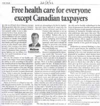 The London Fog: Free health care for everyone except ...
