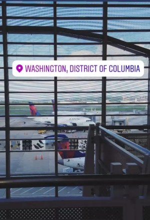 Inside the DCA airport before Woodhull Sexual Freedom Summit