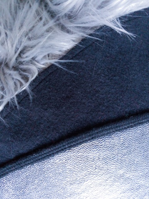 The Layer cotton fleece and polyurethane faux-leather