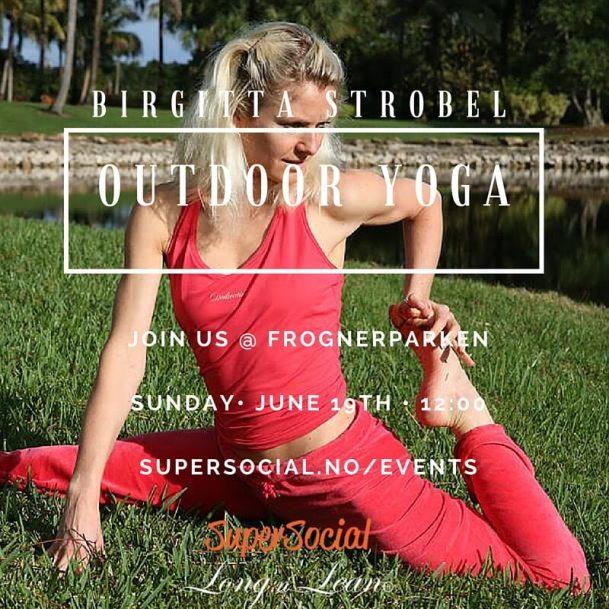 outdoor yoga - yoga i parken med birgitta strobel