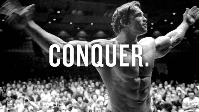 Arnold. Enough said! Conquer. Super Soldier Project