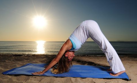 Downwards Dog Yoga. Asana. Flexibility. Core Training. Balance. Adho mukha svanasana.