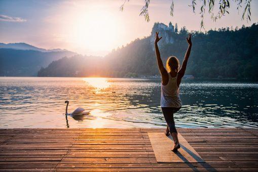 Sun salutation sequence. Flexibility. Core Training. Balance.