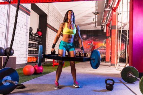 Resistance Training. Hex bar deadlifts. Full body workout.