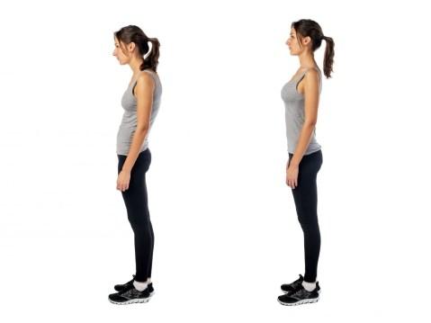 Poor posture. Core strengthening.