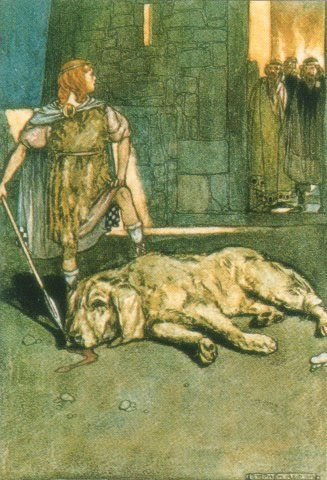 Cuchulainn and the hound