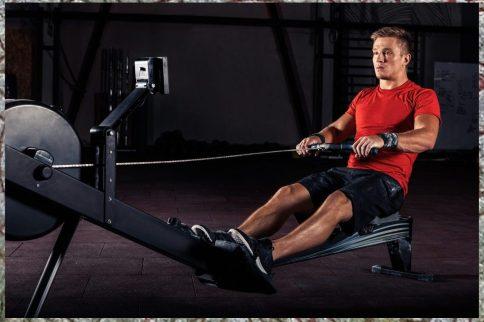 Rowing. Cardio Work. Cardio HIIT Workout.