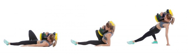 Sandbag get ups. Functional Fitness. Core exercises.
