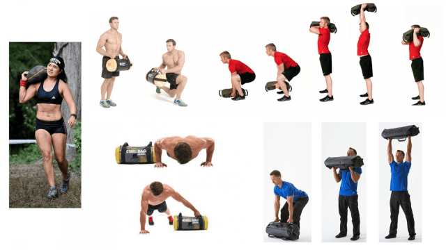 Sandbag workout. Functional Training. Full Body Workouts. Core Workouts.