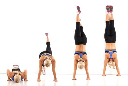 Wall handstands. Upper Body and Core Exercises. Makeshift Gym Equipment. Train everyday. Super Soldier Project.