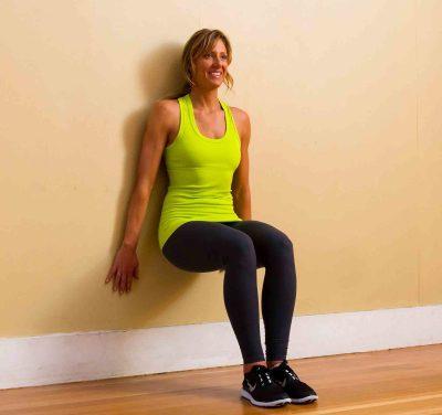 Wall squats. Train Anywhere. Bodyweight workouts. Callisthenics.