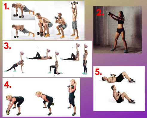 EMOM workout. HIIT exercises. Best exercises to lose weight fast. HIIT Cardio training. Kettlebell cleans.