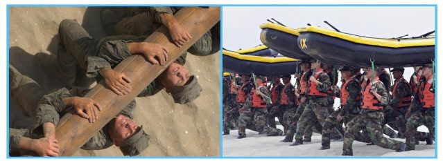 Hell Week. Calisthenics. Buds training. Muscular endurance exercises.