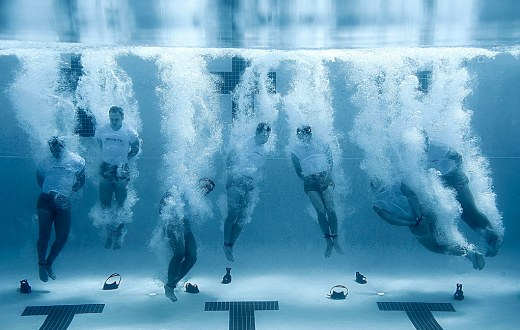 Navy SEALs Training. Drown Proofing.