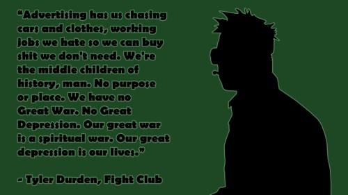 Tyler Durden. Fight Club. Philosophy. Mindset. Will to win. Carpe Diem. Detachment. Letting go. Masculinity.