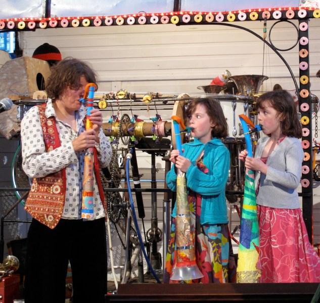 Saxophone making Modern Art Oxford. Yard Party