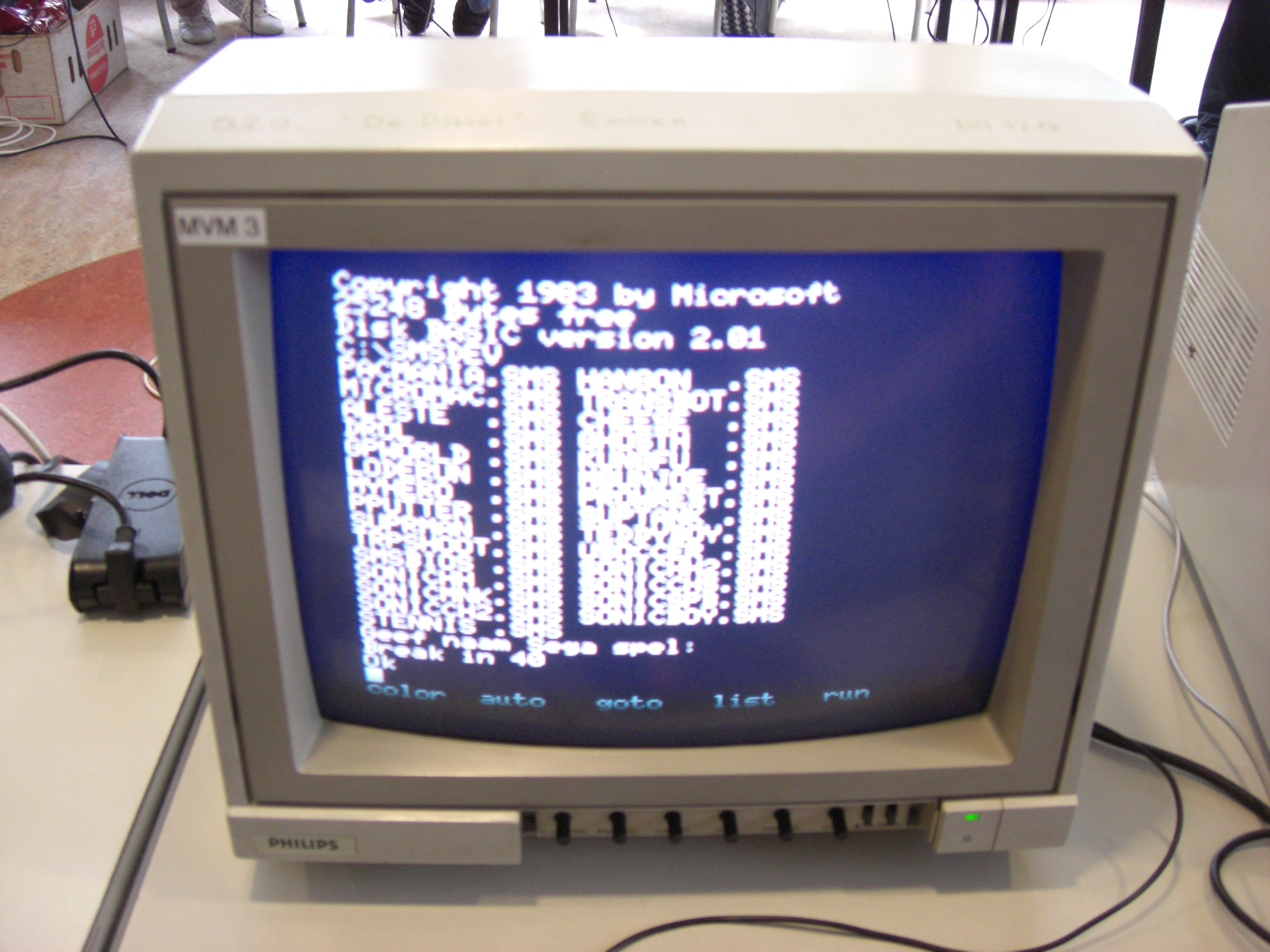 MSX1 Basic output on the Sega VDP