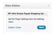 ajout widget ultra simple paypal e-commerce