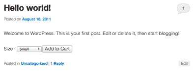 bouton d'ajout panier ultra simple paypal e-commerce