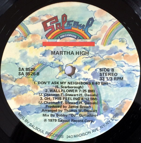 1979 Salsoul LP: Martha High – He's My Ding Dong Man