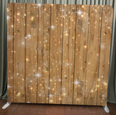 wood glitter photo booth screen