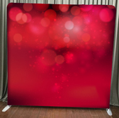 red photo backdrop