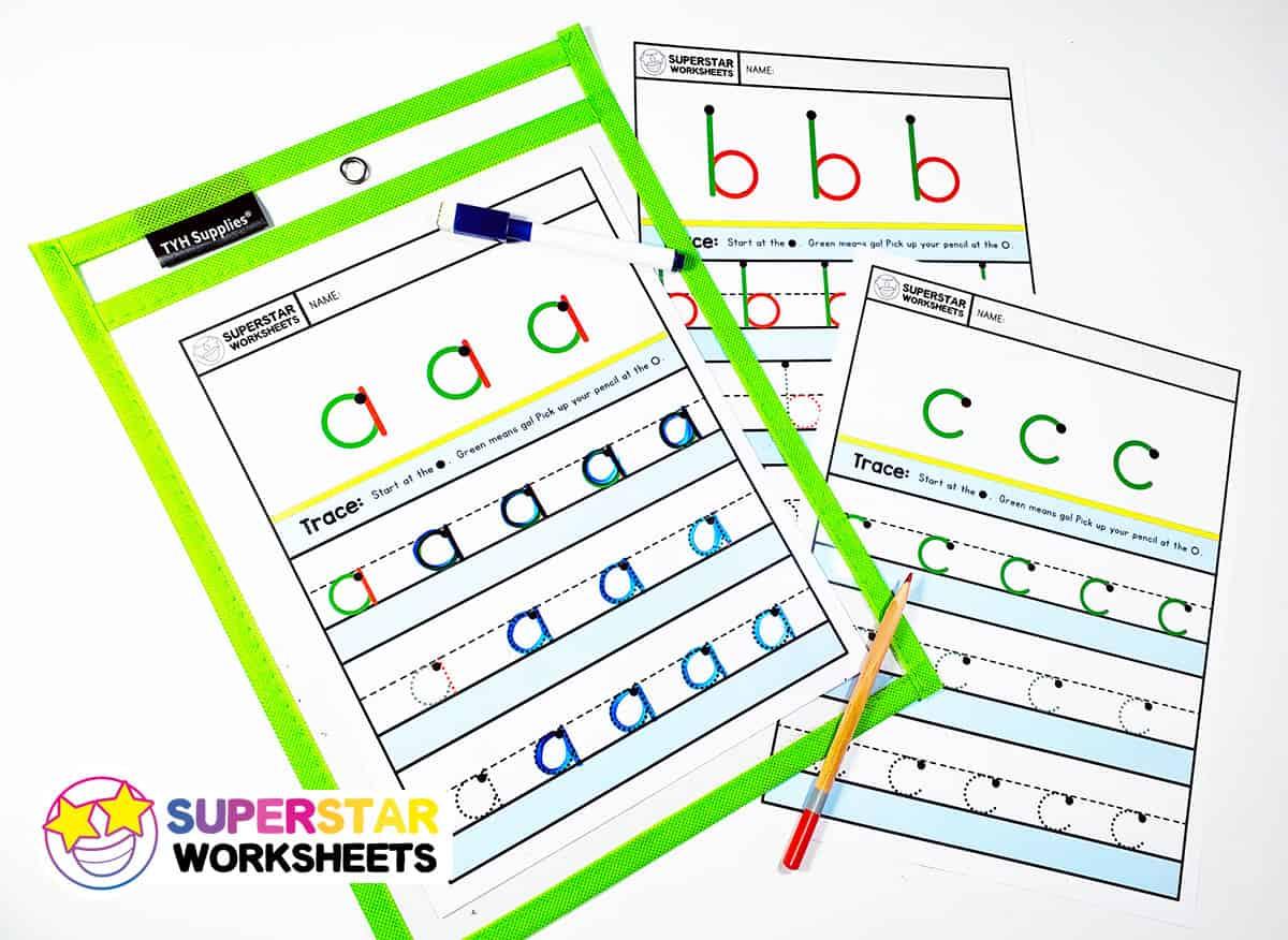 Alphabet Writing Worksheets Lowercase
