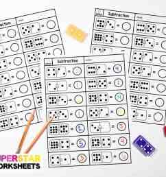 Subtraction Dominos Worksheets - Superstar Worksheets [ 887 x 1200 Pixel ]