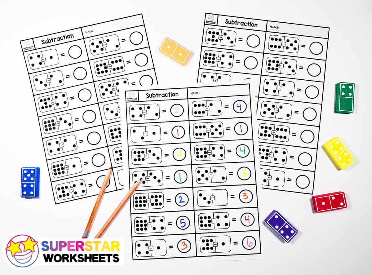 hight resolution of Subtraction Dominos Worksheets - Superstar Worksheets