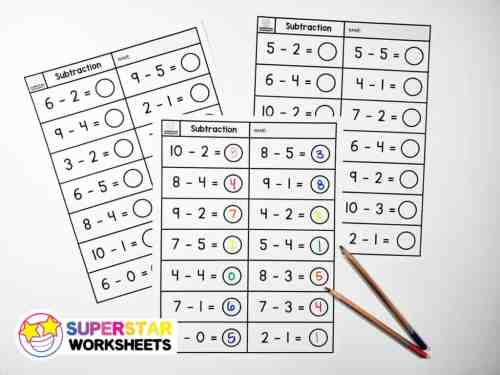 small resolution of Subtraction Worksheets - Superstar Worksheets