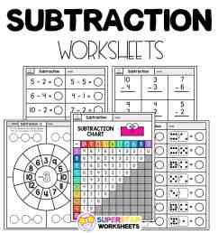 Subtraction Worksheets - Superstar Worksheets [ 1028 x 924 Pixel ]
