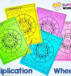 Multiplication Wheels - Superstar Worksheets [ 898 x 1200 Pixel ]