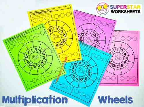 small resolution of Multiplication Wheels - Superstar Worksheets