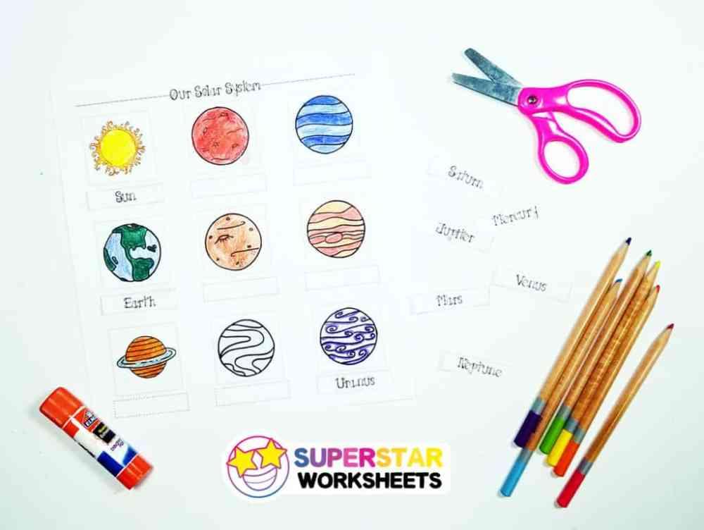 medium resolution of Solar System Worksheets - Superstar Worksheets