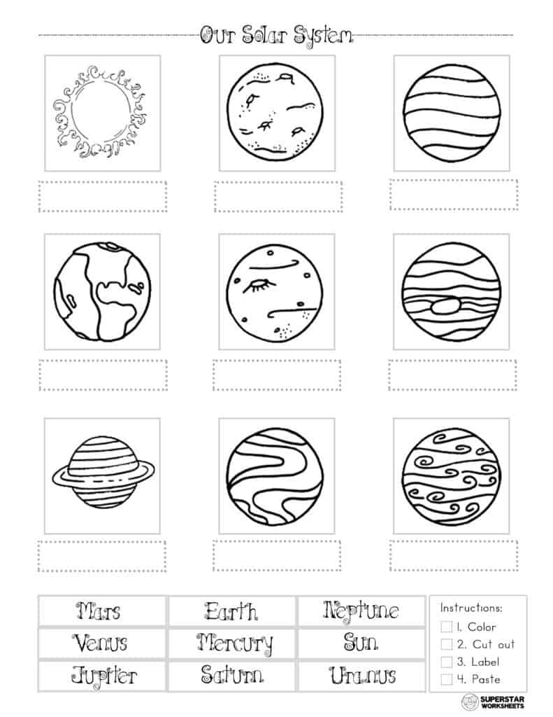 medium resolution of Solar System Worksheets - Superstar Worksheets