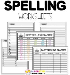 Spelling Worksheets - Superstar Worksheets [ 1024 x 920 Pixel ]