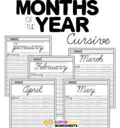 Months of the Year Cursive Handwriting Worksheets - Superstar Worksheets [ 1028 x 924 Pixel ]