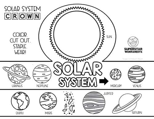 Kindergarten Solar System Worksheets Pdf / Solar System