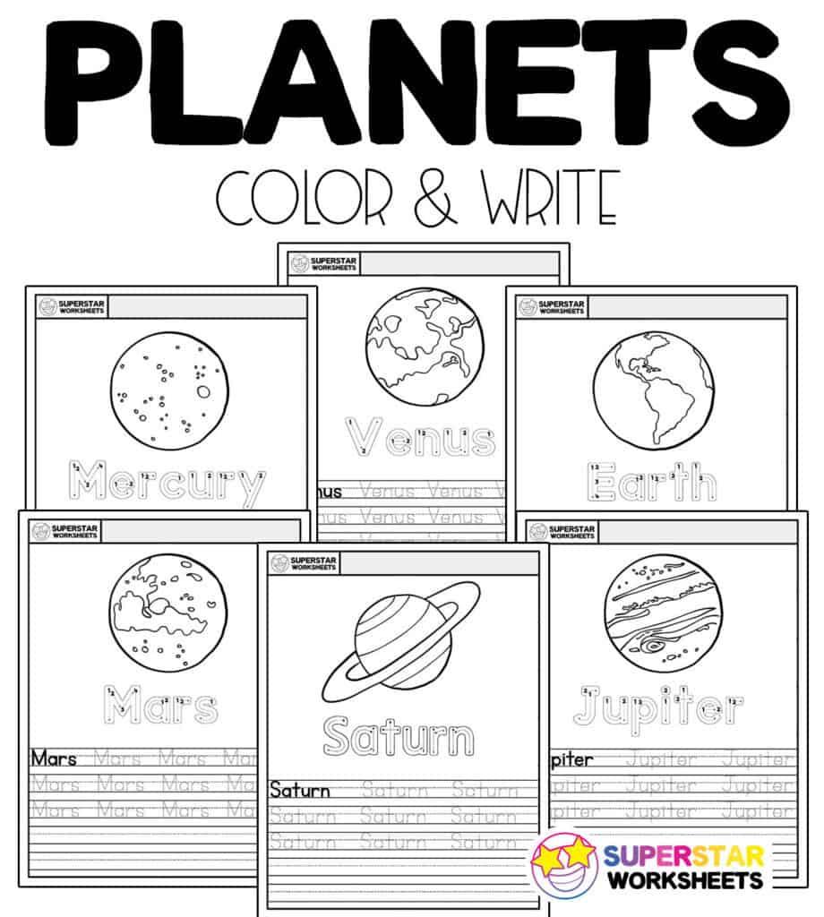 medium resolution of Planet Worksheets - Superstar Worksheets