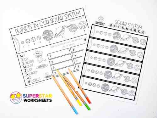 small resolution of Solar System Worksheets - Superstar Worksheets