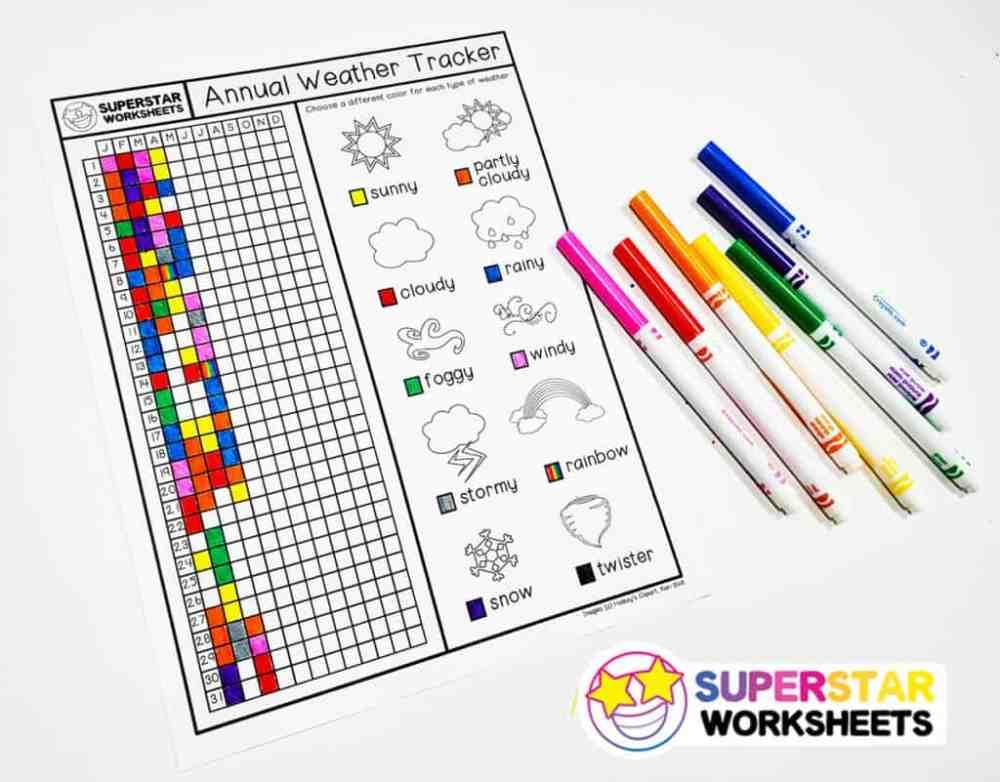 medium resolution of Weather Printables - Superstar Worksheets